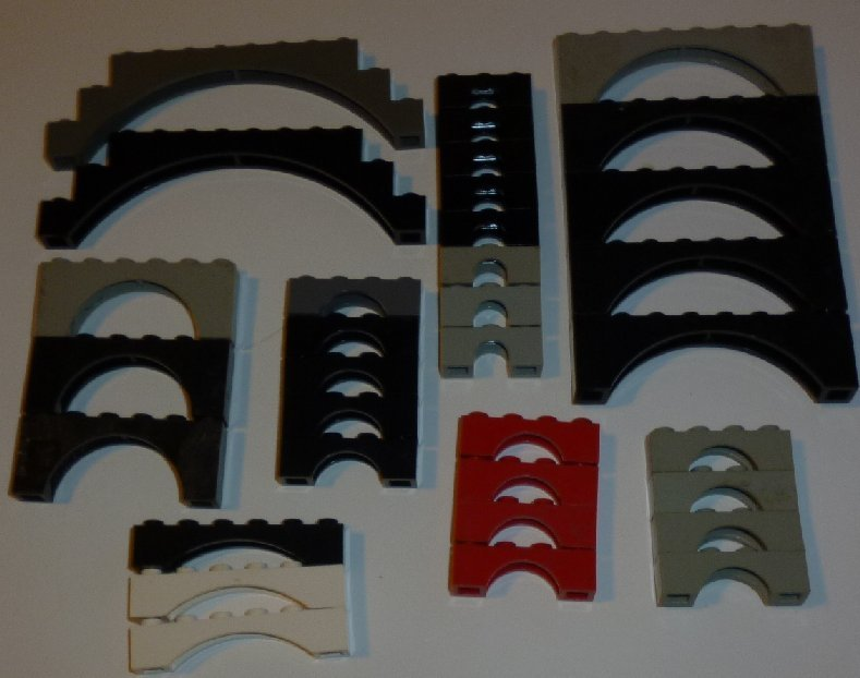 LEGO Parts lot of 34 ARCHES mixed sizes & colors