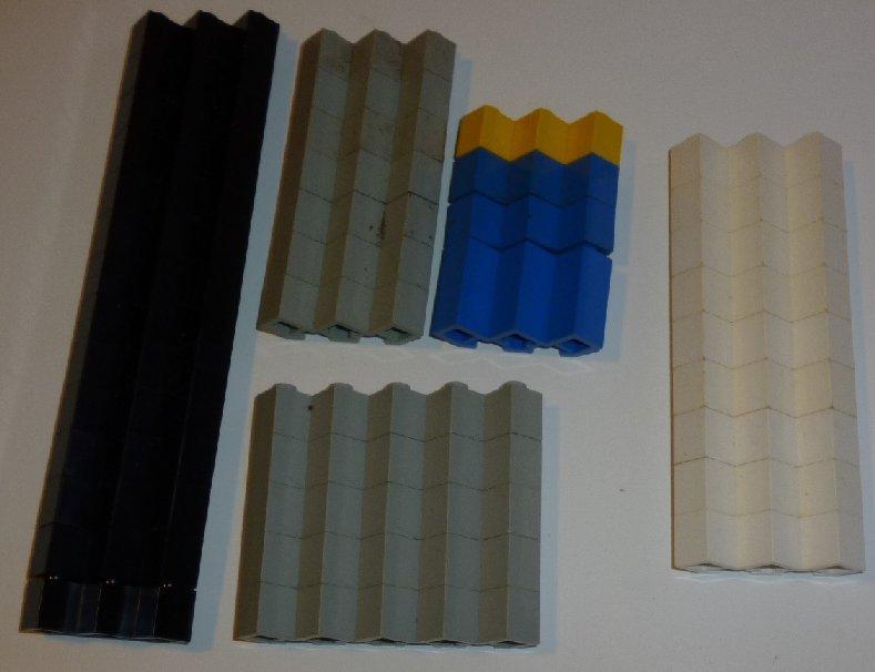 LEGO Parts lot of 35 Brick 3x3 FACET & five 5x5 FACET mixed colors