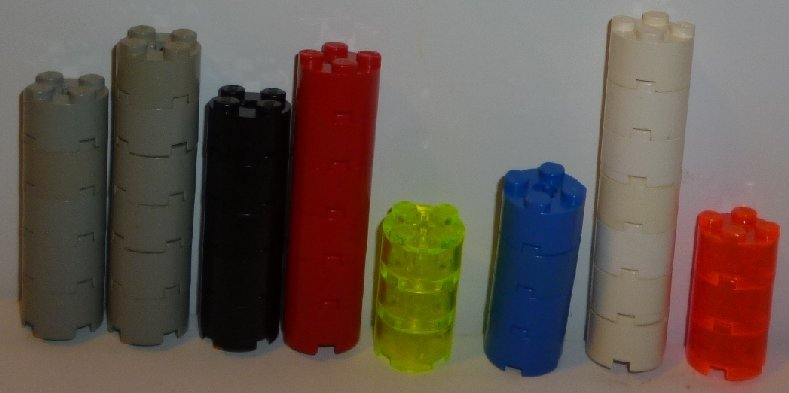 LEGO Parts lot of 39 Round Brick 2x2x2 mixed colors
