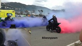 New 180/55ZR17 Shinko BLUE Smoke Rear Motorcycle Tire W73 image 1