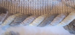 Primary image for 10 YDS Cream/Taupe Lip Cord/Fringe