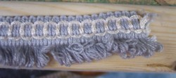 Primary image for 10 YDS Blue Gray Loop Cord Fringe/Trim