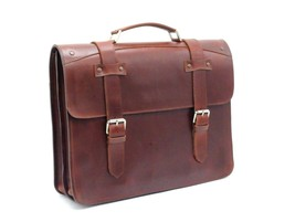 Leather Men's Briefcase Bag Leather Laptop Bag High Quality Pure Leather - $203.51