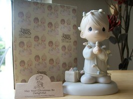 """1985 Precious Moments """"May Your Christmas Be Delightful"""" Figurine  - $35.00"""
