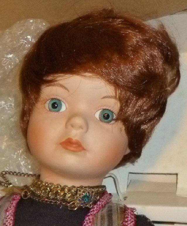 """WILLIAM TUNG Handcrafted PORCELAIN Doll LEE Lion Tamer 18"""" Mint in DAMAGED Box"""
