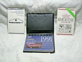 Vintage Collectible 1991 Chevrolet Corsica Oem 4pc Owner's Manual Set-Service!!! - $16.95