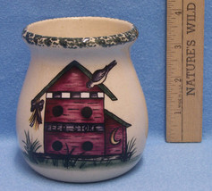 Home & Garden Party Berry Candle Stoneware USA May 2000 Bird House Bee Hive - $13.85