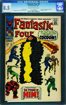 Fantastic Four #67cgc 8.5 1967 him/warlock Origin-jack Kirby 1127142001 - $879.06