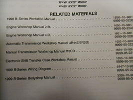 1999 Mazda B-Serie 3.0L Motor Truck Service Reparatur Shop Manuell Fabrik OEM 99 image 4