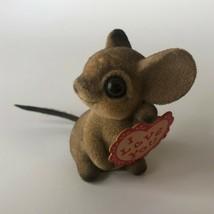 """Mouse Josef Original Japan Figurine Flocked Vintage 1.75"""" I Love You - $14.75"""