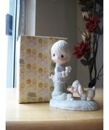 """1978 Precious Moments """"Praise The Lord Anyhow"""" Figurine Signed by Sam Bu... - $100.00"""