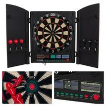 Electronic Dartboard Cabinet Set Darts Game 38 Modes Wood Doors Portable... - $159.95