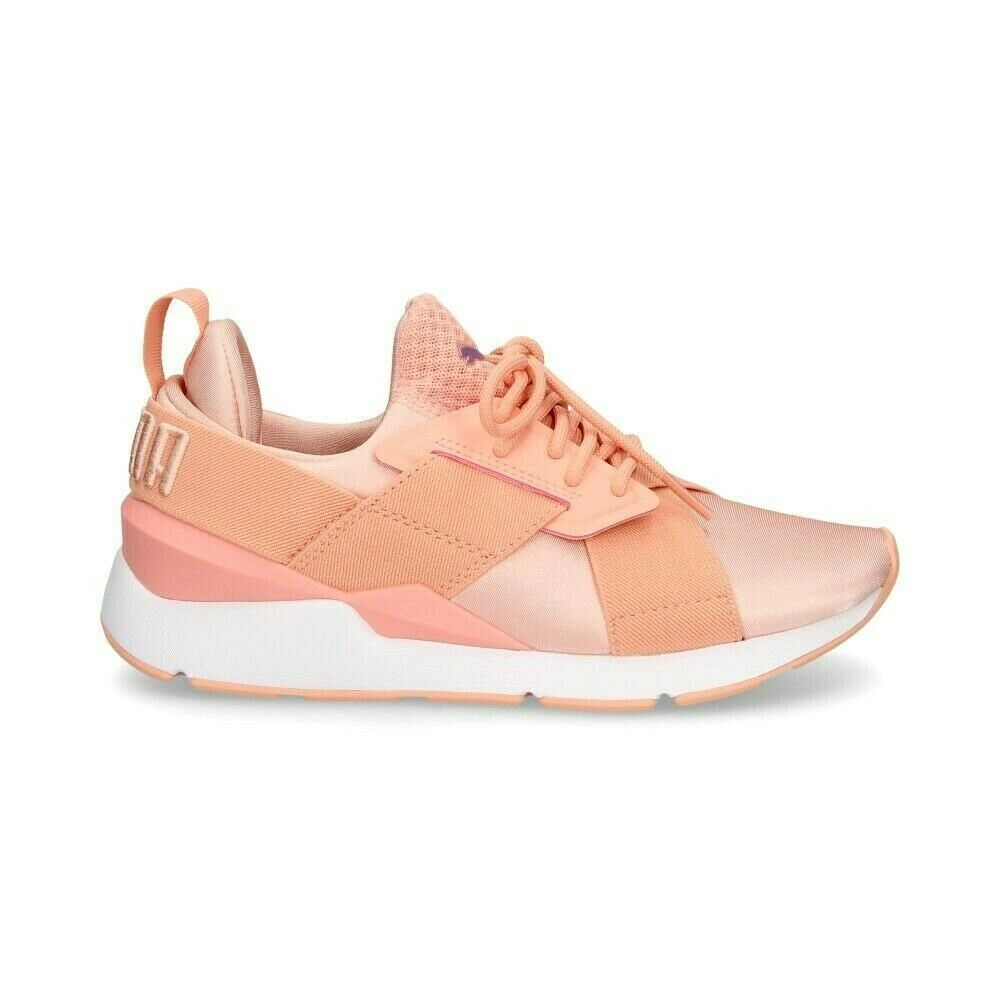 Primary image for Puma Muse Satin EP Peach Beige White 365534 01 Womens Casual Shoes