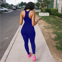 Sedrinuo Sexy Sleeveless Tank Bodysuit Women Bodycon Jumpsuit Casual Spo... - $37.00