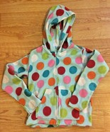 Girls Jacket Gymboree Fleece Lightweight Jacket Size 7-8 Blue with Dots EUC - $7.99