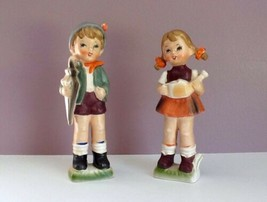 Brinn's Boy & Girl Figurines Pittsburg, PA Made In Japan Original Labels... - $29.69