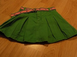 Size 6 Gymboree Smart Girls Rule Kelly Green Pleated Skirt Skort Pink Do... - $16.00