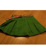 Size 6 Gymboree Smart Girls Rule Kelly Green Pleated Skirt Skort Pink Do... - $16.00