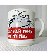 Sandra Boynton Coffee Mug Cup Cat Keep Your Paws Off Recycled Paper Prod... - $18.52