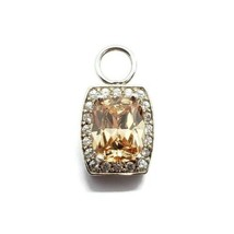 Joseph Esposito 925 Sterling Silver Orange & Clear CZ Charm - $14.84