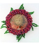 Victorian Style Hand Beaded Artistic Brooch 1 - $10.10