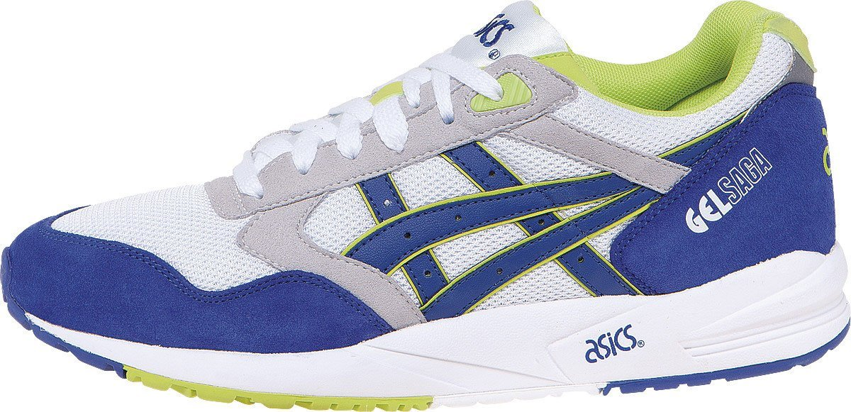 ASICS Gel-Saga Retro Running Shoe, White/Dark Blue, 4 M US