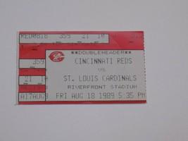 Cincinnati Reds St Louis Cardinals Saint MLB Ticket Stub Vintage Old Aug 18 1989 - $9.99