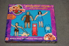 The Flintstones Bendable Figures Barney Betty Bamm-Bamm Mattel [NEW & SEALED] - $6.00