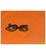 Vintage Abalone Screw Back Earrings - $7.97