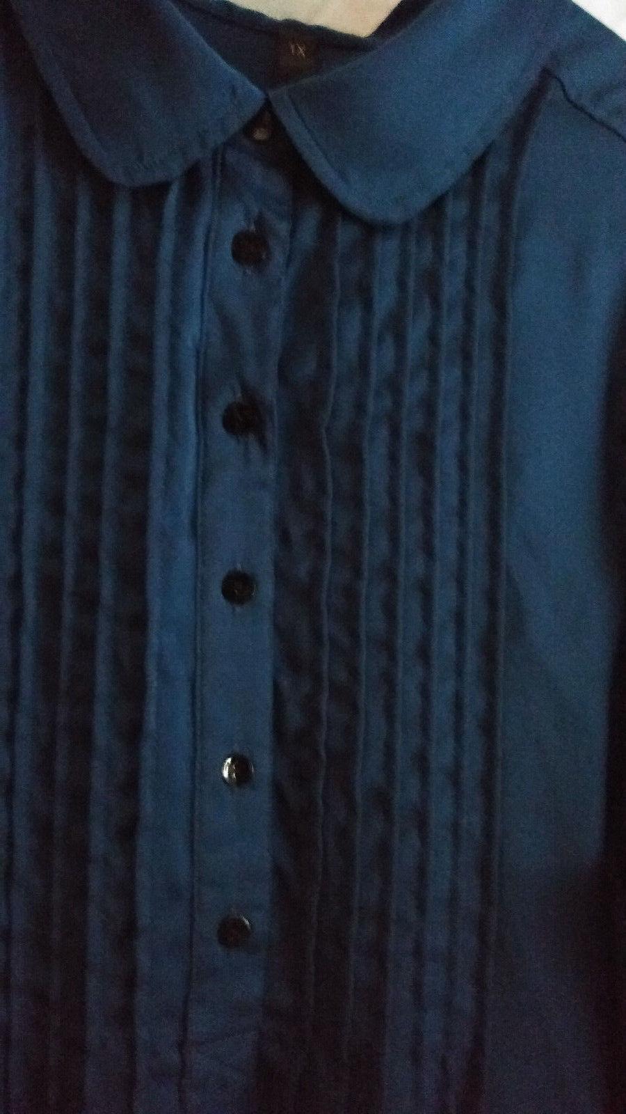 Melissa McCarthy Seven7  ROYAL BLUE pintuck Tunic/ Blouse Top Sz 1X PLUS   NWOT