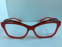 New ALAIN MIKLI A 03042 A03042 F424 54mm Red Cats Eye Eyeglasses Frame I... - $248.39