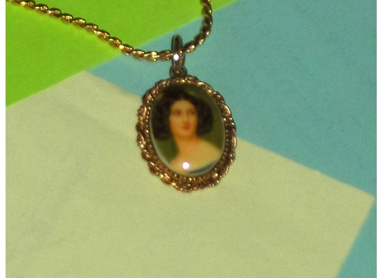 Cameo Portrait Of Woman  Necklace