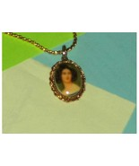 Cameo Portrait Of Woman  Necklace - $19.97