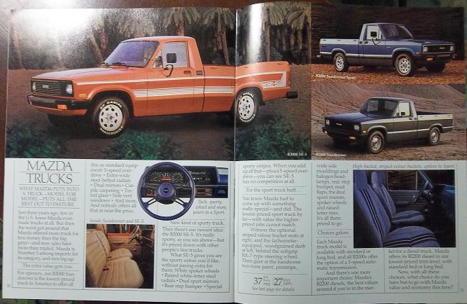 1984 Mazda Cars Full Line Brochure - RX-7, GLC, 626, B2000