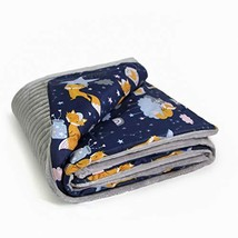 MoMika Baby Girl Or Baby Boy Fluffy Blanket–Minky Soft Cotton (Gray-fox) - $36.90