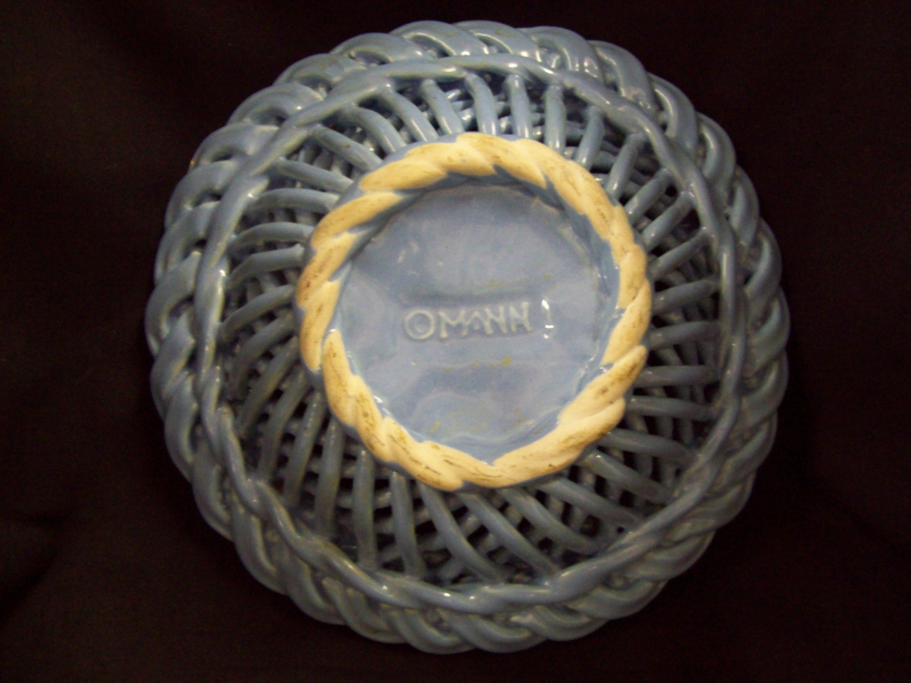 MANN Basket weave blue bowl