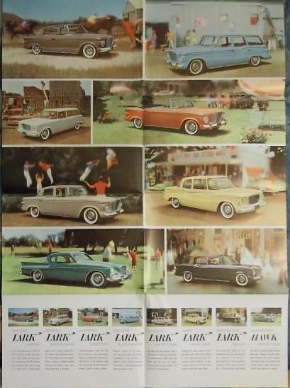 1961 Studebaker Lark Original Poster-Size Full Color Brochure - NICE!!