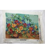 Bucilla Nancy Rossi Pansy Passion Needlepoint 4733 completed Finished  - $37.39