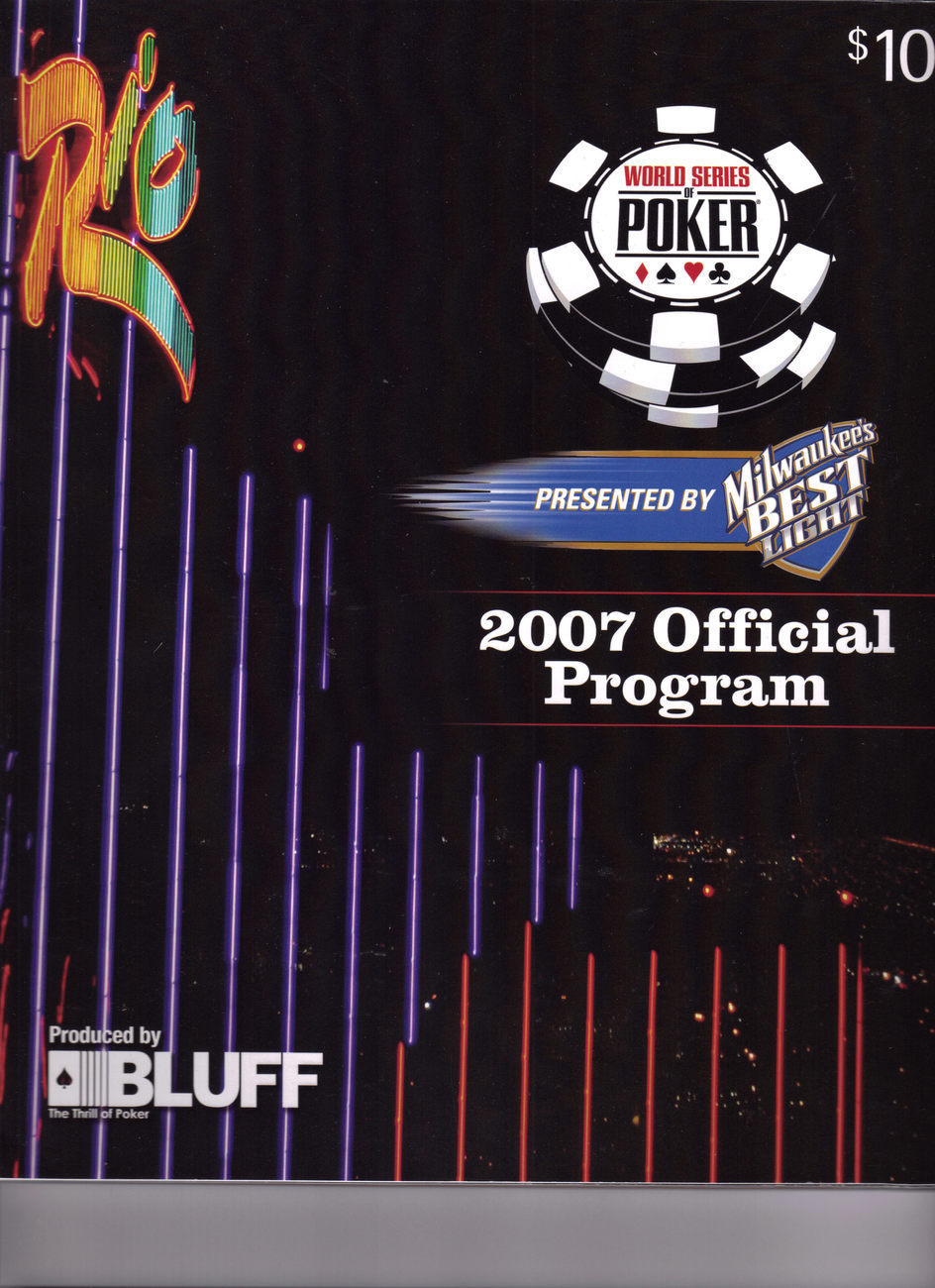 Primary image for 2007 WORLD SERIES OF POKER OFFICIAL PROGRAM