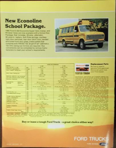 1980 Ford B-Series School Bus Chassis Brochure