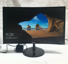 "Samsung 24"" Curved LED Monitor with HDMI & D-Sub Inputs in Black, LC24F3... - $164.43"
