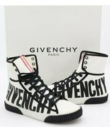 NIB GIVENCHY Paris Boxing Logo Canvas High-Top Sneakers Shoes New 6 36 - $327.22