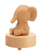 Elephant Classical Wooden Mechanism Musical Box Gift for Christmas - $59.85