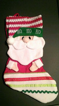 Santa Claus Red Green White Christmas Holiday Stocking Hat and Scarf 16 ... - $4.95