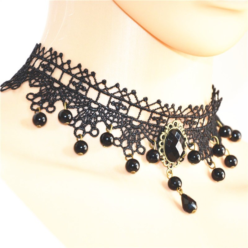 Summer Fashion Black Choker Necklace for Women Statement Necklaces