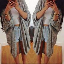 Gray Oversized Loose Knitted Ladies Cardigan - $26.00