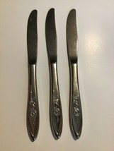 Lot 3 Butter Knives Knife MY ROSE Oneida Community Stainless Betty Crock... - $29.69