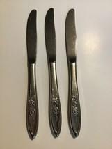 "Lot 3 Butter Knives Knife MY ROSE Oneida Community Stainless Betty Crocker 8.5"" - $29.69"