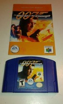 007 World Is Not Enough (Nintendo 64, 2000) w/ Manual - $13.06