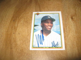 Autographed baseball card Mel Hall Yankees - $4.00